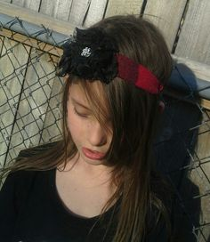 Daddy's Girl headbands upcycled from his favorite flannels