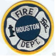 Houston TX Fire Department Authentic 70's Patch Badge