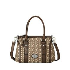 Mommy wants. Fossil Maddox satchel in pecan.