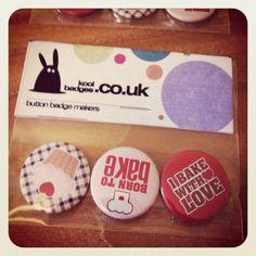Baking button badges - Button badges