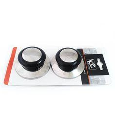 515021 POMEL KEHOME CROMADO/PRETO C/2 PCS 5807