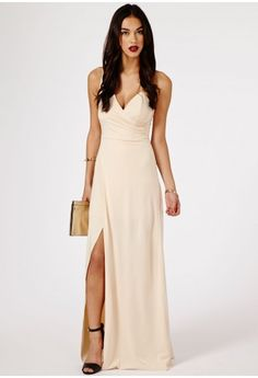 Koemi One Shoulder Bodice Detail Split Maxi Dress - Dresses - Maxi Dresses - Missguided