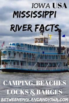 Facts About The Mississippi River: Mississippi River Camping, Beaches & Sandbars Facts about the Mississippi River. A guide to the Mississippi River in Iowa. Mississippi River camping, beaches and sandbars North America Destinations, Little Island, Beach Camping, Lake Michigan, Camping Hacks, Camping Tips, Travel Usa, Travel Tips, Day Trips