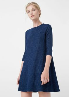 Flecked dress - Dresses for Woman | MANGO Netherlands