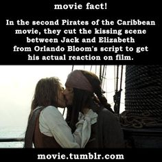 movie: In the second Pirates of the Caribbean movie, they cut the kissing scene…
