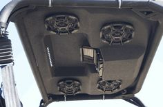"""Would you look at that! The 3 option Polaris Ranger Audio Formz Stereo Top comes with 4 6.5"""" silver marine speakers, an 18w x 4w amp, detachable faceplate and more! Now you can blast Nightranger in your Ranger louder than ever! #utv #stereo $1287.17 http://www.sidebysidestuff.com/audio-formz-stereo-top-with-optional-led-lights-ranger.html"""