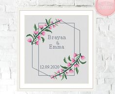 Cross Stitch Pattern Wedding Personalized Love Tree wedding cross stitch pattern married modern pattern, Personalized wedding gift, Mr & Mrs by SoEasyPattern on Etsy Wedding Cross Stitch Patterns, Modern Cross Stitch, Cross Stitch Kits, Cross Stitch Designs, Custom Wedding Gifts, Personalized Wedding Gifts, Embroidery Kits, Modern Embroidery, Pattern Pictures