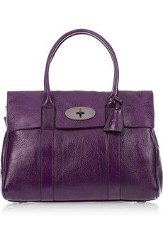 MULBERRY  Bayswater patent-leather bag