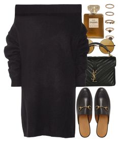 """""""Untitled #9666"""" by nikka-phillips ❤ liked on Polyvore featuring Forever 21, Chanel, Yves Saint Laurent, Opening Ceremony and Gucci"""