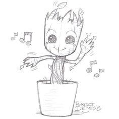 Dancing Groot by Banzchan.deviantart.com on @deviantART