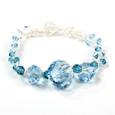 Blue Crystals Knotted Bracelet