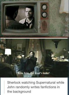 Sherlock fanboying lol