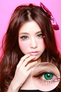 EOS Dolly Eye Green Colored Contact Lenses