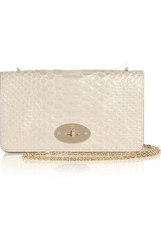 Mulberry | Bayswater snake-effect leather clutch | NET-A-PORTER.COM