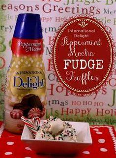 Peppermint mocha fudge truffles