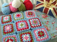 I love these Cath Kidston inspired granny squares!!