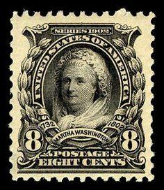 Martha Washington:  First Woman on a US postage stamp, 1902