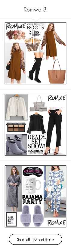 """""""Romwe 8."""" by b-necka ❤ liked on Polyvore featuring Sigma, romwe, Americanflat, Artistica, NARS Cosmetics, 3R Studios, Global Views, Context, Surratt and Coach"""