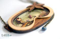 The Little Mermaid necklace. / Collar La sirenita. por LaliblueShop