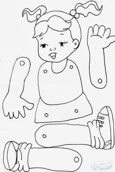 Jardín Actividades E Ideas, Actividades Ideas - Diy Crafts - maallure Body Parts Preschool Activities, Preschool Body Theme, Activities For 5 Year Olds, Preschool Worksheets, Preschool Crafts, Toddler Activities, Kindergarten Activities, Crafts For Kids, Diy Crafts