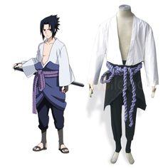 Naruto Shippuden Sasuke Uchiha Adult Cosplay Costume