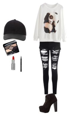 """Untitled #3"" by karleigh-1 ❤ liked on Polyvore featuring Charlotte Russe, Glamorous, Canali, Givenchy, Kevyn Aucoin and Christian Dior"