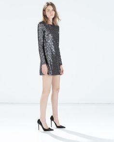 ZARA - NEW THIS WEEK - SEQUINNED DRESS