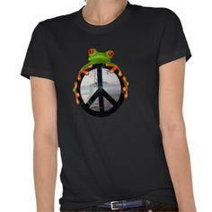peace frog1 tshirt by Oddzodd $28.95
