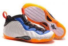 "fe67b602145 Nike Air Foamposite One ""Knicks Home"" White Bright Orange-Royal Blue Christmas  Deals HexcTwY"