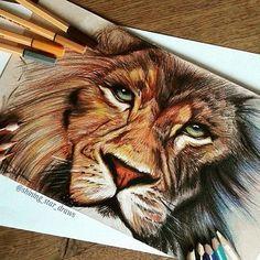Imagem de art, drawing, and lion