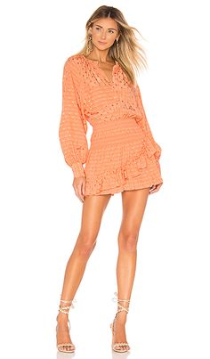 7deae06cf9 Shop for Tularosa Charlene Dress in Pale Peach at REVOLVE.