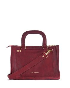 Ted Baker HICKORY - Stab stitch detail leather bag