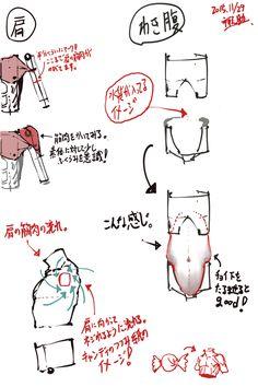 胴体の描き方 - 禅之助 - pixiv