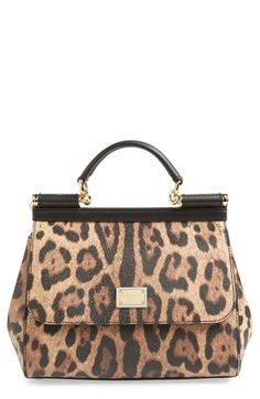 Dolce&Gabbana 'Miss Sicily' Top Handle Leather Satchel available at #Nordstrom