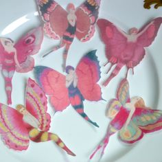 Edible Pink Rose Flapper Butterfly Fairies x 12 by WicksteadsEatMe