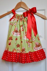 Girls Christmas Dresses Retro Pillowcase Dress Personalize It!