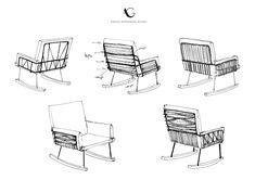 Sketches - Push rocking chair feutré par Annika Göransson