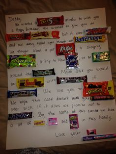Candy bar birthday poster :)   Miscellaneous   Pinterest
