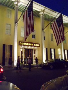 Cape May, NJ - Congress Hall. Love The Blue Pig for outside dinners in the summer.