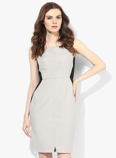 Beige/Stone Pencil Dress
