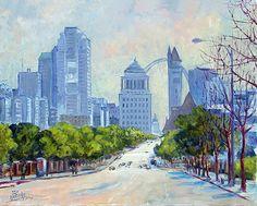 Downtown St.Louis from Market Street by Irek Szelag