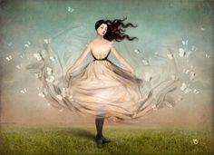 Butterfly Dress Art Print