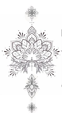 Geometric Mandala Tattoo, Mandala Tattoo Design, Tattoo Design Drawings, Flower Tattoo Designs, Tattoo Sketches, Geometric Tattoos, Lotusblume Tattoo, Tattoo Motive, Back Tattoo