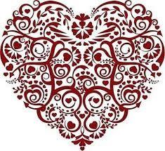 Amazing lace heart tattoo idea