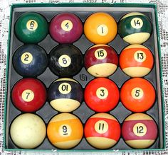 1940's Bakelite Pool Balls