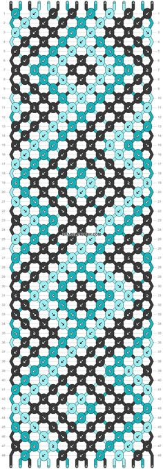 Normal friendship bracelet pattern added by square dots diamond lines zigzag. Diy Friendship Bracelets Patterns, Diy Bracelets Easy, Bracelet Crafts, Handmade Bracelets, String Bracelets, String Bracelet Patterns, Embroidery Bracelets, Surfer Bracelets, Alpha Patterns