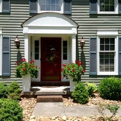 Great white planters for front entrance.