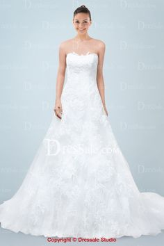 Comely A-line Bridal Dress in Magnificent Lace Detail