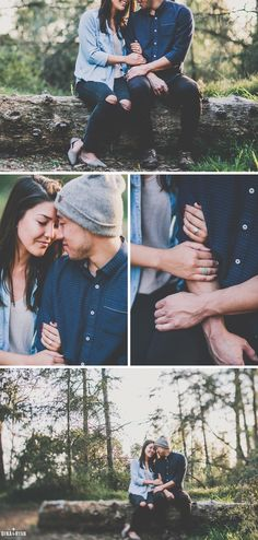 Gina and Ryan Photography; Forest Engagement session (Pose Ideas)