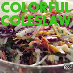 Ree's crunchy Colorful Coleslaw is the perfect side for any meal.